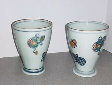 2 Vintage Antique Chinese Cups Hand Made