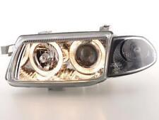 Coppia Fari Fanali Anteriori Tuning Angel Eyes Audi A3  8L 01-03 cromato