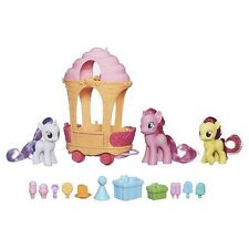 My Little Pony FIM Pinkie Pie Sweetie Belle Apple Bloom Rolling Sweets Cart Set