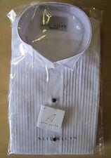 New White Neil Allyn Wing Collar Tuxedo Shirt Wedding Prom M(15-15.5) 36/37