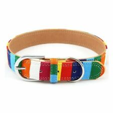 Pet Product Padded Big Dog Collar Personalized Canvas&leather Puppy Cat Necklace