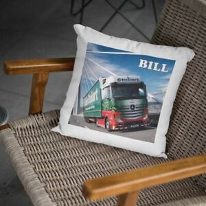 PERSONALISED PRINTED PICTURE EDDIE STOBART LORRY CUSHION COVER CHRISTMAS