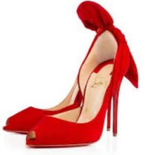 Christian Louboutin Barbara Oeillet Red Suede 100m Size 42 US 12