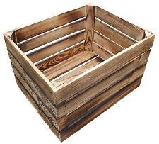 1 Stück NEUE geflammte Holzkisten Obstkisten Apfelkisten Weinkiste 50x40x31 53 L