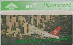 Telefoonkaart / Phonecard Engeland - Vliegtuig / Airplane / Virgin 2 (351)