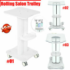 Aluminum Beauty Salon Trolley Salon Use Pedestal Rolling Cart Wheel Stand
