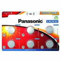 6 X PANASONIC CR2032 3V LITHIUM COIN CELL BATTERY DL2032 BR2032 2032 X 6