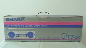 Brand New SHARP QT7-DX Stereo Radio Cassette Recorder With Box