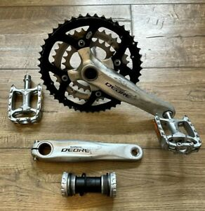 Shimano Deore M590 9 Speed Triple Chainset and Wellgo Pedals