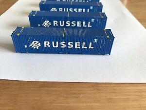 Dapol Megafret Russell Containers N Gauge