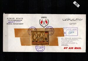 / AJMAN 1972 - COVER - IMPERF - OLYMPICS, GERMANY, HORSE, SPORTS
