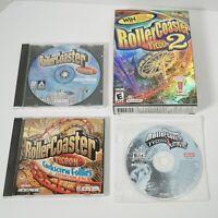 Roller Coaster Tycoon 1 2 3 Platinum Corkscrew Follies PC CD ROM Game Lot