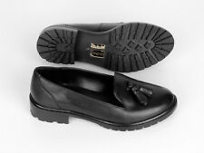 New Out From Under Urban Outfitters Black Leather Tassel Loafer AUS 5 (US 8)