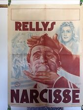 NARCISSE Affiche Cinéma Originale 1940 RELLYS Original Movie WWII Version Rare