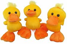 "Plush Yellow Duck soft cuddly toy  5.5""  3 in a pack"