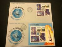Bahamas Space Themes Scott# 486-89 FDC & #489a S/S First Day Cover April 21,1981