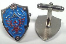 Legend of Zelda Link Hylian Triforce Shield Nintendo Cufflinks Cuff Link Set