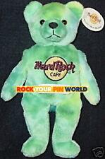 "Hard Rock Cafe USA City ""MONTY"" Teddy BEAR #4 of 5 TYE DYE Bean Bag BEARA MWMT"
