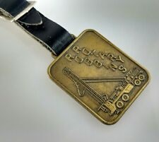 Vintage Robins Rotary Bermingham Well Drilling Advertising WATCH FOB & Strap