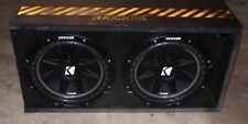 KICKER COMPETITION CUSTOM DUAL 1000WATT 10IN. CAR SUBWOOFER
