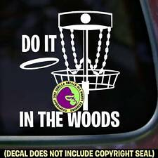 DO IT IN WOODS Disc Golf Vinyl Decal Sticker Golfing Car Window Laptop Sign