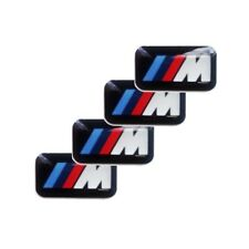 4 x BMW M Power Alu Felgen Emblem Aufkleber Logo Sticker NEU