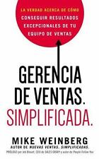 GERENCIA DE VENTAS SIMPLIFICADA / SALES MANAGEMENT SIMPLIFIED - WEINBERG, MIKE -