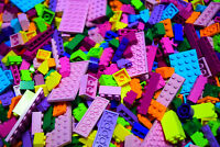 ☀️100 PIECES GIRL COLORS BRAND NEW LEGO LEGOS HUGE BULK LOT BRICKS PARTS RANDOM