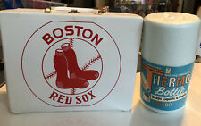 Vintage Boston Red Sox Vinyl Lunch Box And Thermos,Great Condition