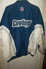 Dallas Cowboys  Authentic Jacket Waterproof Lined Football XL Blue White NFL
