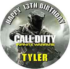 "Call of Duty Infinite Warfare personalised icing sheet cake topper 7.5"" Round"