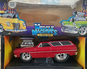 '65 Chevelle Wagon Muscle Machines 1:18 Rare Red