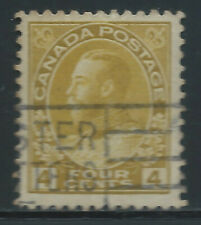 Canada #110c(14) 1922 4 cent golden yellow KING GEORGE V Used CV$15.00
