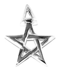 Witchcraft 3rd Degree Sterling Silver Pendant - Pagan Pentacle Wicca Necklace