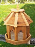 Very large handmade cedar wood gazebo style bird feeder, #RS1 TBNUP