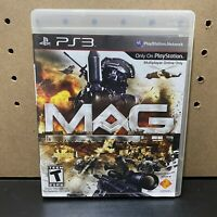 MAG (Sony PlayStation 3, 2010) PS3 Complete CIB W/ Manual-Tested-Fast Ship