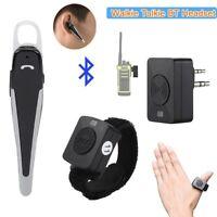 Wireless Bluetooth Headset Walkie Talkie K Plug Earpiece+PTT Remote for Motorola