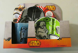 DISNEY Star Wars 3-Piece Dinnerware Set Child Bowl Plate Cup NEW! MSRP: $25.99