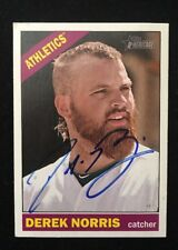 DEREK NORRIS 2015 TOPPS HERITAGE AUTOGRAPHED SIGNED AUTO BASEBALL CARD 198 A'S
