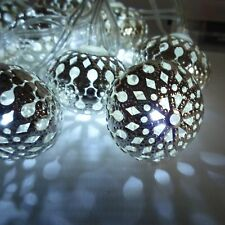 Tropical Paradise Battery Operated 10 LED Mirrored Ball Lights Length 165cm