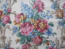 Beautiful unused vintage 50's Sanderson linen union floral fabric - 1M lengths