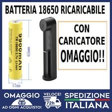 Batteria 18650 Pila Ricaricabile Litio 3,7v Torcia Softair Elettronica laser 303