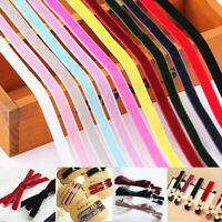 "5 Yards 10mm 3/8"" DIY Soft Velvet Ribbon Headband Bow Trim Sewing Decoration"
