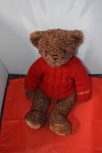 """FAO SCHWARZ  Brown 14"""" Teddy Bear with Red Sweater"""