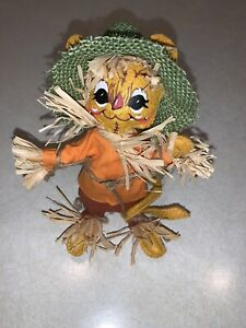 """Annalee 6"""" Mouse Doll Scarecrow Fall Halloween Thanksgiving Decor 204207 NWT"""