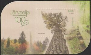 Estonia Estland 2021 MNH 100th Anniversary of Järvselja Wooden Souvenir Sheet