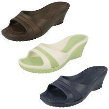Ladies Crocs Light Weight Slip On Open Toe Wedge Mule UK Size 10 : Sassari