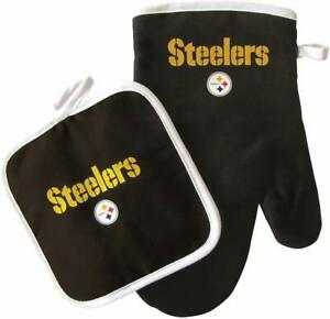 Pittsburgh Steelers Oven Mitt and Pot Holder 2pc set