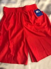 STARTER BIG MENS 2 XL  44 - 46 MESH SPORTS - SHORTS RED - BREATHABLE - EASY WASH