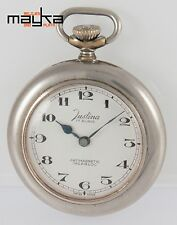 Justina Pocket Watch Steel 41.5mm Caliber Unitas 6497